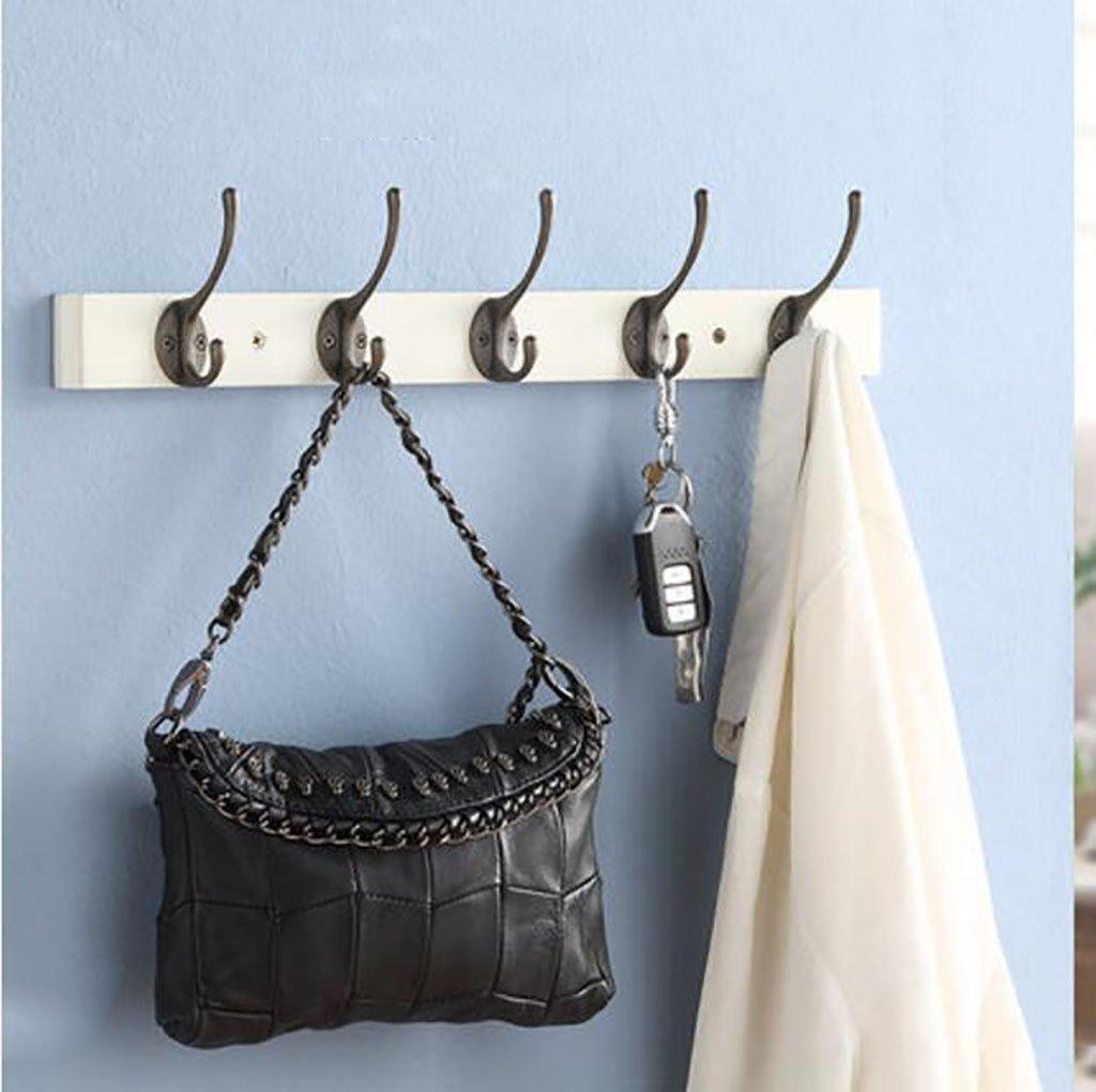 Ymj American solid wood coat hook/wall hook/five rows of hook/towel hook/wall hook hook (Color : B, Size : 48078100MM.)