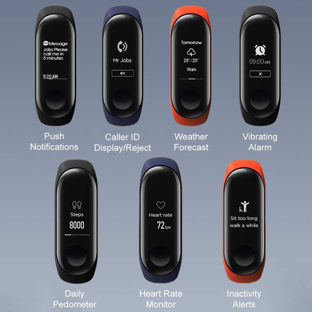 Xiaomi Mi Band 3 - Pulsera de actividad, Pantalla 0.78 full OLED táctil, Notificaciones, Sumergible 50m, Mide calorías, pasos y sueño, Negro