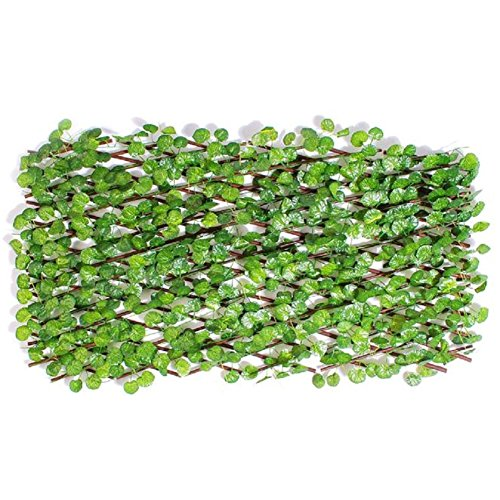 Budnamu Foldable Vine Fence Partition Interior Decoration Ivy (Large, Geranium vine) (Vine Geranium)