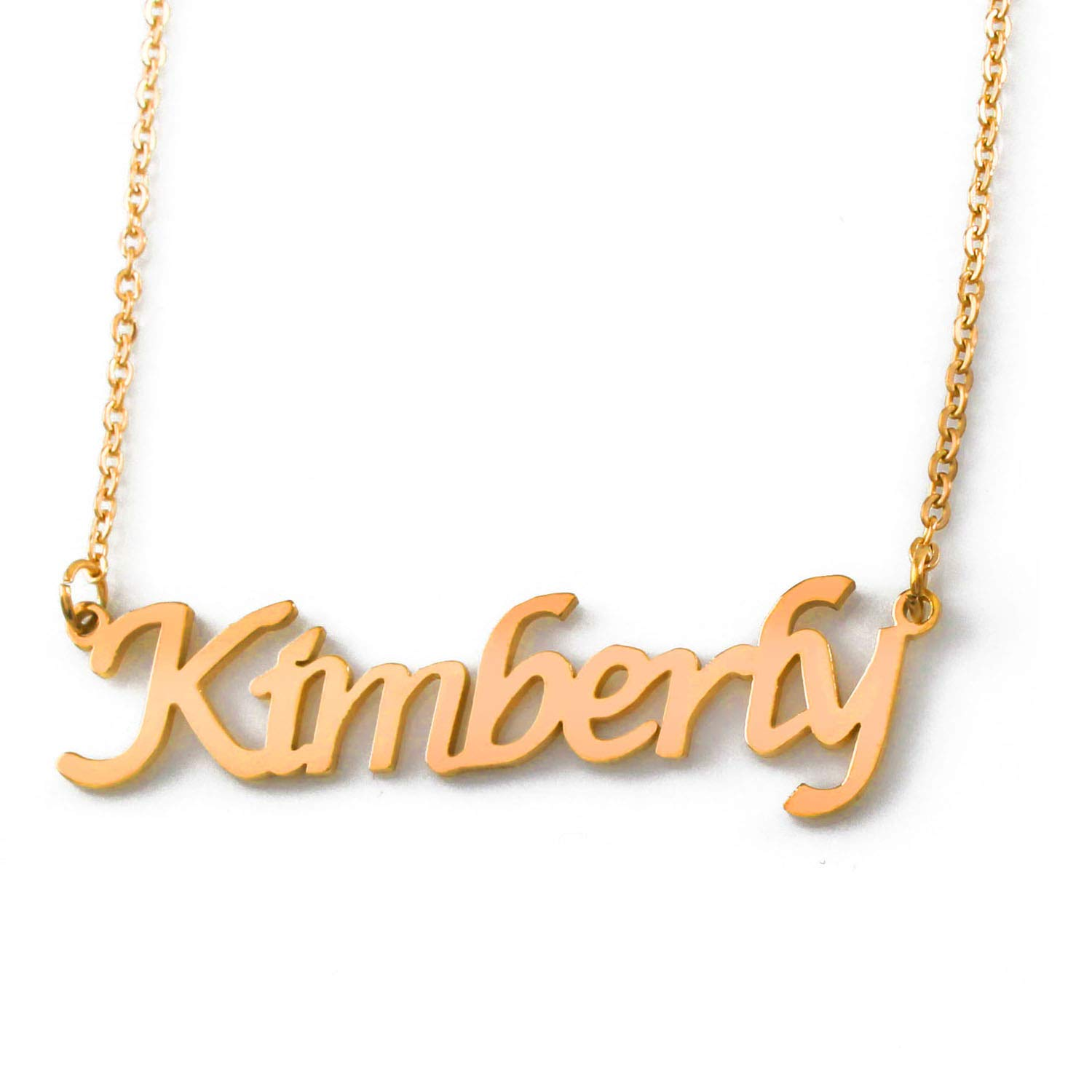 Zacria Kimberly Name Necklace 18ct Gold Plated