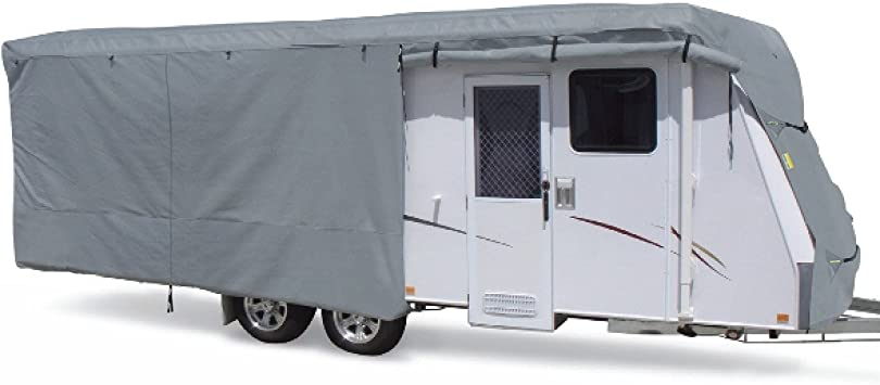 Beige, 24-27 Feet SUMMATES Travel Trailer Cover RV Cover,Color Gray,Beige,160g SSFS 4 Layer Polypropylene Fabric,fits Most Sizes