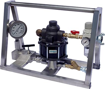 Amazon com: Air Operated Hydrostatic Test Pump 5,000 PSI - No Tank