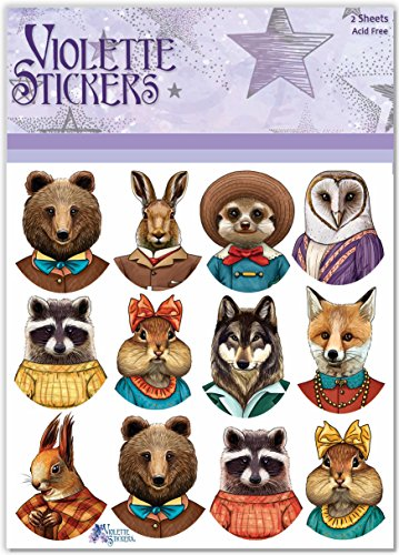 Animal Violet (Violette Stickers Dapper Animals)