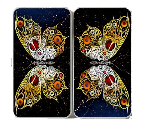 Celtic Weave Butterfly Tribal Tattoo Logo - Taiga Hinge Wallet Clutch - Logo Clutch Wallet