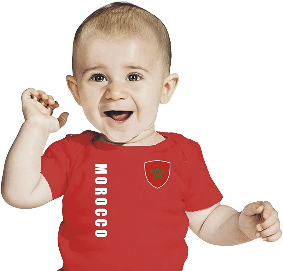 Marokko Baby T-Shirt Trikot rot