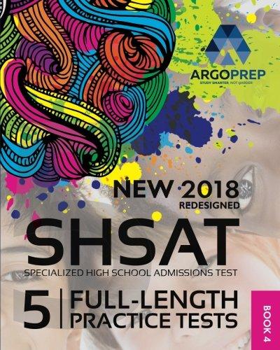 SHSAT Prep By ArgoPrep 2018 5 Full Length Practice Tests Online Comprehensive Video