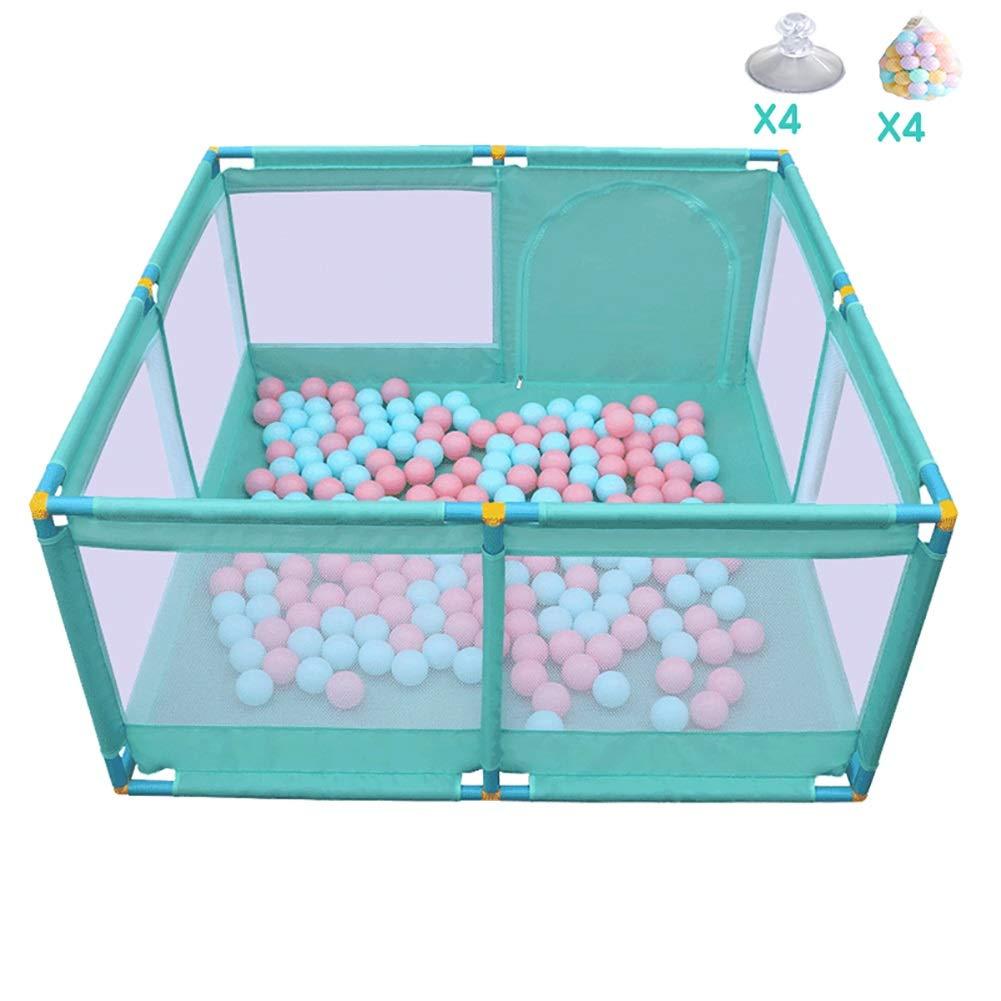 赤ちゃんの囲い ベビープレイペンキッズアクティビティセンター安全プレイヤードホーム室内用屋外プレイペン、128cm×128m×66cm、2色オプション (色 : B)  B B07K7K38QR