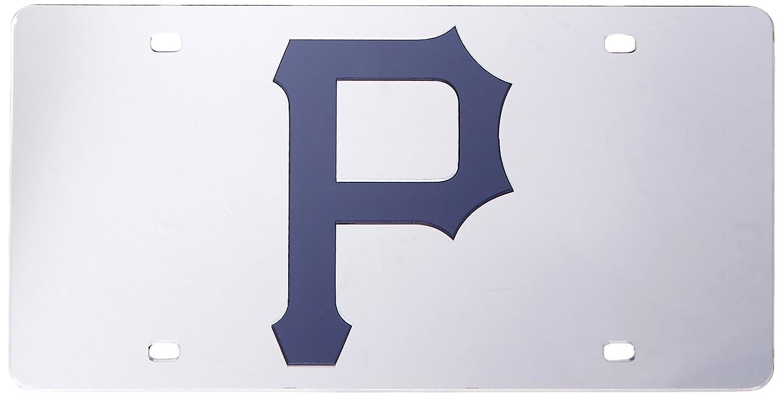 Rico MLB Pittsburgh Pirates Laser Cut License Plate Silver Rico Industries Inc LZS6002