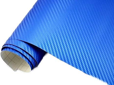 Neoxxim 21 20 M2 Premium Auto Folie 3d Carbon Folie Blau Metallic 50 X 150 Cm Blasenfrei Mit Luftkanälen Ca 0 16mm Dick Küche Haushalt