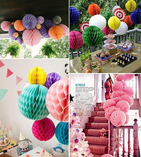 10pcs Paper Pom Poms Flowers honeycomb ball Wedding Birthday Party Decoration