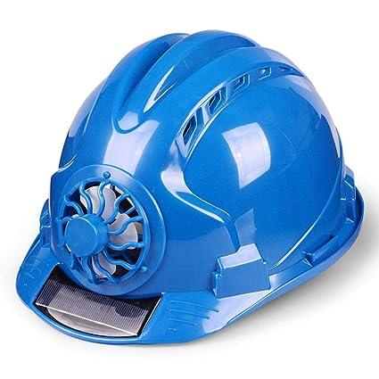 MZ JH& Casco Ajustable con Ventilador Solar, ANSI-obediente, Equipo De Protección Personal