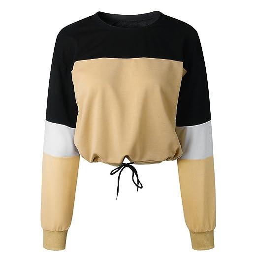 ZODOF Mujeres Sudaderas con Capucha De Manga Larga Panda Impresión Moda Chica Bonita Ropa Deportiva Women Sudaderas Cortas Sweatshirt Pullover Tops Shirt ...
