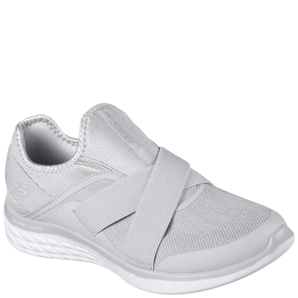 gris 40.5 EU Skechers 12953 Chaussures Sports Femmes