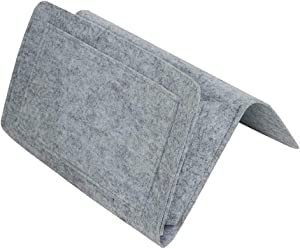 MiaoKa Bedside Felt Storage Bag, Bed Sofa Desk Hanging Organizer with Pockets, for Phone Magazines Tablets Remotes