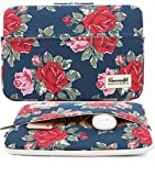 Canvaslife blue The peony Flower Patten Laptop Sleeve 13 Inch Macbook Air 13 Case Macbook Pro 13 Sleeve and 13.3 Inch Laptop Bag