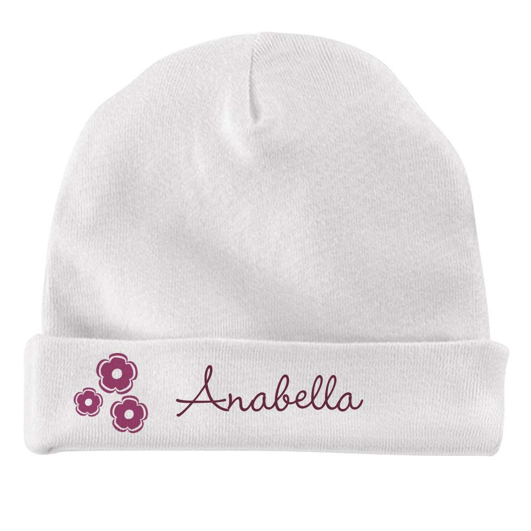 Infant Baby Hat FUNNYSHIRTS.ORG Baby Girl Anabella Flower Hat