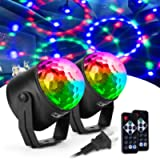 CCJK Disco Party Ball Lights, Sound Activated Party Lights with Remote Control 7 Color RGB Dance Disco Strobe Light for…