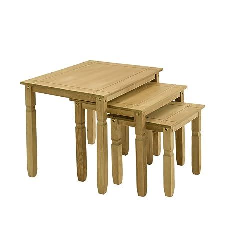 Tavolini Da Salotto Divani E Divani.Saiyun Tavolino Da Caffe Set Di 3 Tavolini Impilabili In Legno