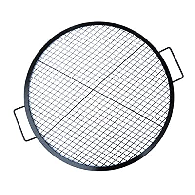 Stanbroil Heavy Duty X-Marks Round Fire Pit Cooking Grate Grill with Support Frame