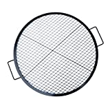 Stanbroil Heavy Duty X-Marks Fire Pit Cooking Grill with Support Frame, Outdoor Round BBQ Campfire Grill, Camping Cookware, 30 Inch