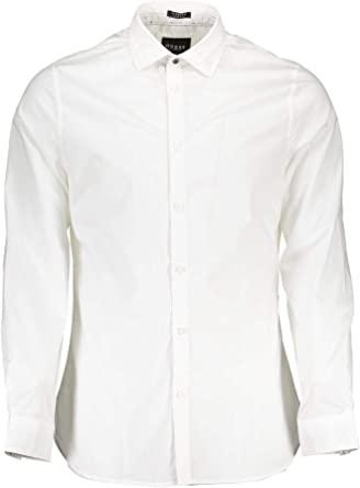 Guess LS Alameda Shirt Camisa Casual, Color Blanco (True White A000), XL para Hombre: Amazon.es: Ropa y accesorios