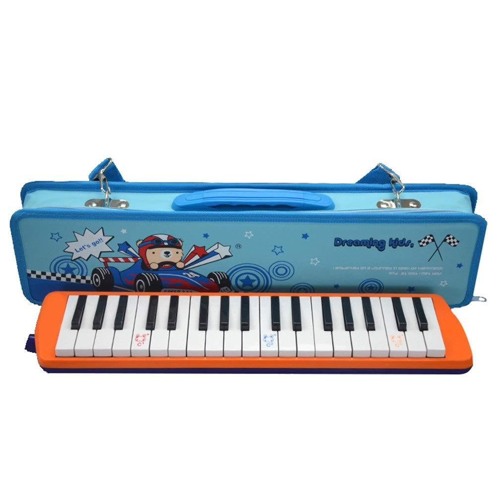 Melodica Musical Instrument 36 Keys Keyboard Cartoon Style Piano Melodica With Portable Carrying Case Kids Musical Instrument Gift Toys For Kids Music Lovers Beginners Mouthpieces Tube Sets for Music