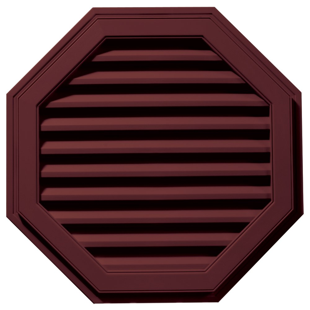 Builders Edge 120013232078 32'' Octagon Vent 078, Wineberry