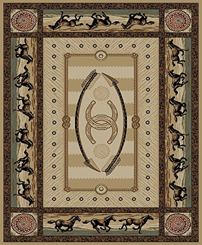 "Dean American Cheyenne Lodge Cabin Western Ranch Horse Area Rug 7'10"" x 9'10"" (8×10) Review"