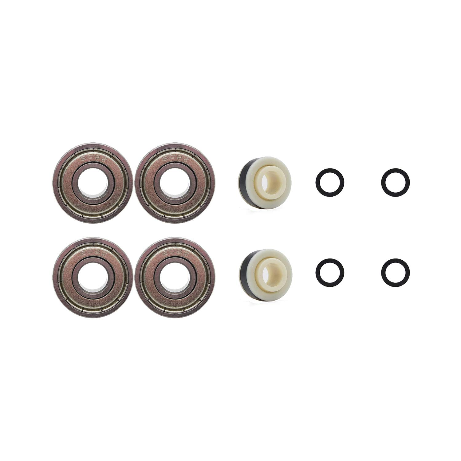 for Any Product Using Inline Skate Wheels Multiple Size and Color Options Available Rollerex 2-Pack 92A LED Light-Up Wheels w//Bearings