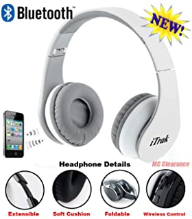 864c7bffd7c iTrak Wireless Bluetooth Headphone; Over Ear; Foldable; Noise Canceling;  Audio Streaming &