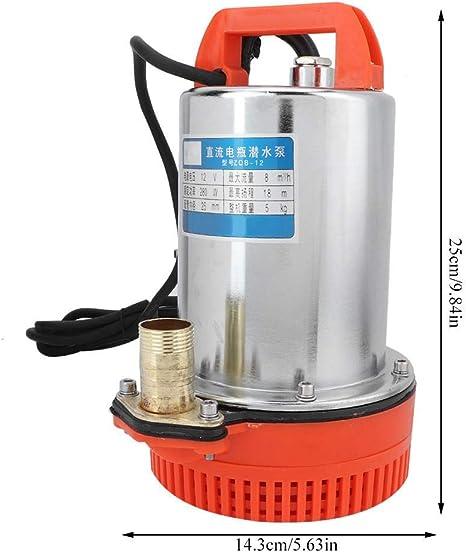 Zouminyy Bomba de agua bomba de agua sumergible de pozo profundo DC 12V Bomba de agua de riego