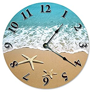 6169EFYAHXL._SS300_ Coastal Wall Clocks & Beach Wall Clocks