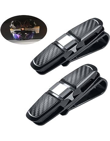 Pack de 2 portavasos para el visor solar del coche, Vehículo gafas de sol dobles