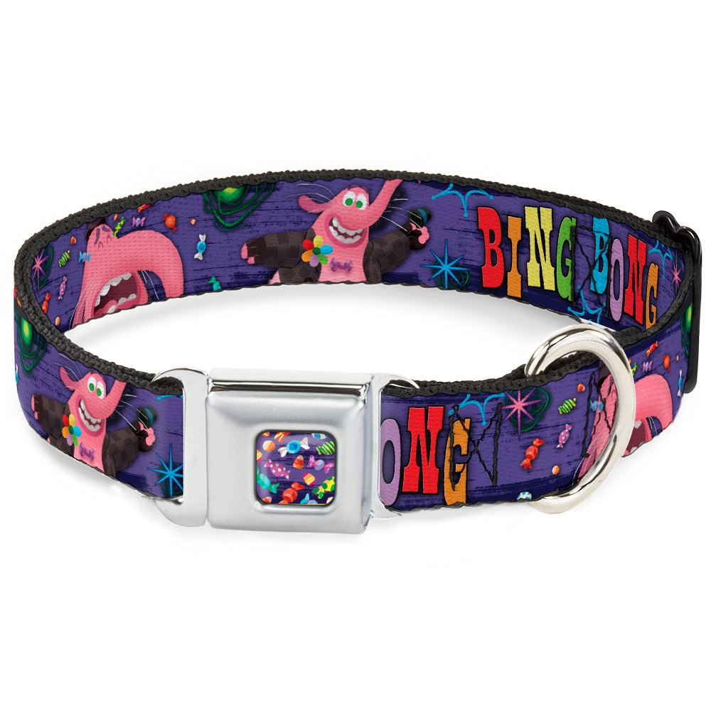 Buckle-Down DC-WDY222-WM DYGJ Scattered Candy Full color Purples Dog Collar, WIDE-Medium 16-23