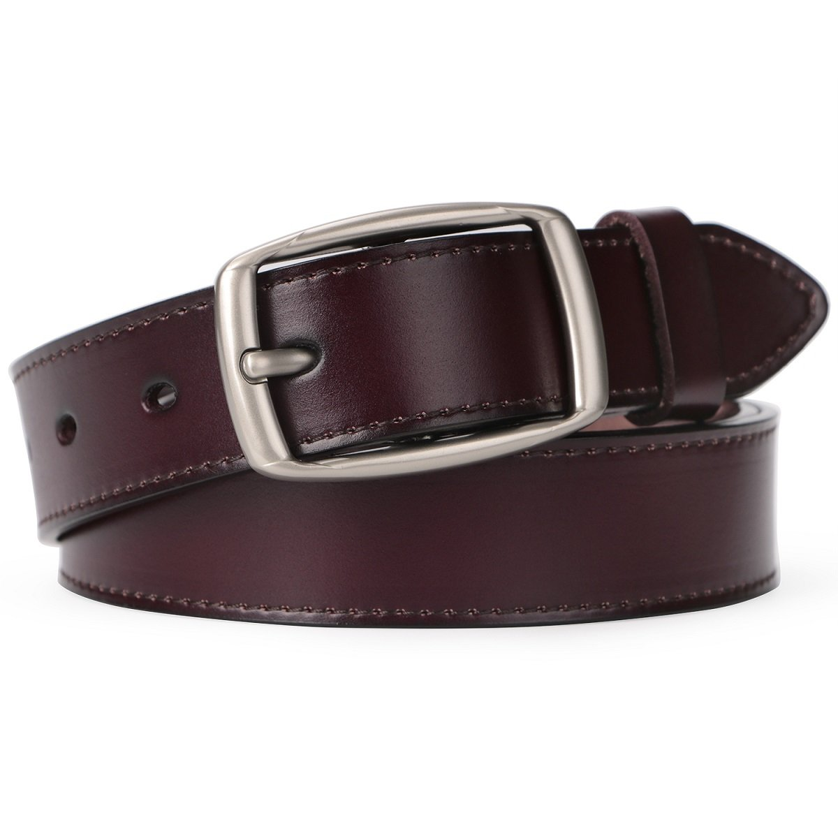 SUOSDEY Genuine Leather Belts for Women with Vintage Metal Buckle