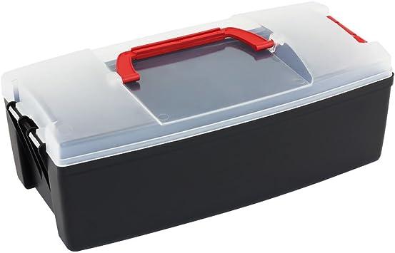 Multifuncional recipiente, tapa transparente caja de herramientas, cierre talla M: Amazon.es: Bricolaje y herramientas