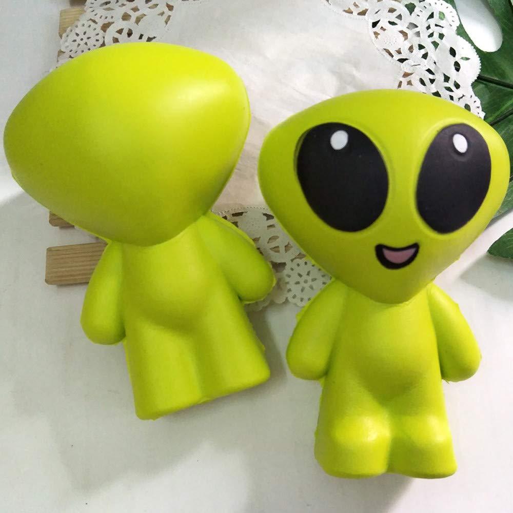 Altsommer Weihnachtssocke Süß Große Augen Alien Stressabbau Toys,Anti-Stress-Spielzeug für Kinder Gescheken,Langsame Steigende Spielzeuge für Erwachsene,Stress Relief Fidget Toys (A)