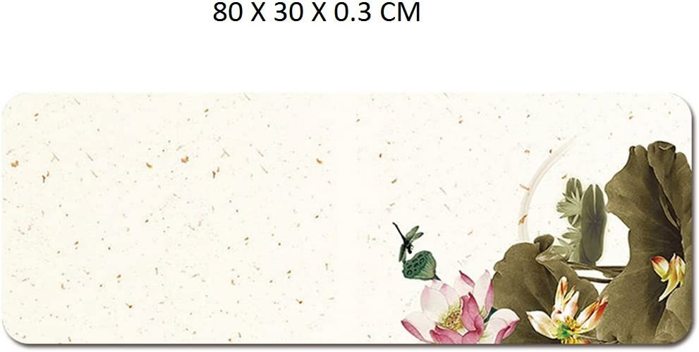 Colour 6 LL-COEUR Large Size Mouse Pad Gaming Play Mat Non-slip Office Laptop Table Mat 800x300x3mm