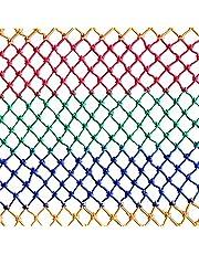 6mm*8cm Safety Net Children Pet Accident Prevention Mesh 1 * 4M Multi-Color Rope Net Playground Ribbon Net Colorful Nylon Rope Woven Net Color Suspension Bridge Net(Size:3 * 6m(10 * 20ft))