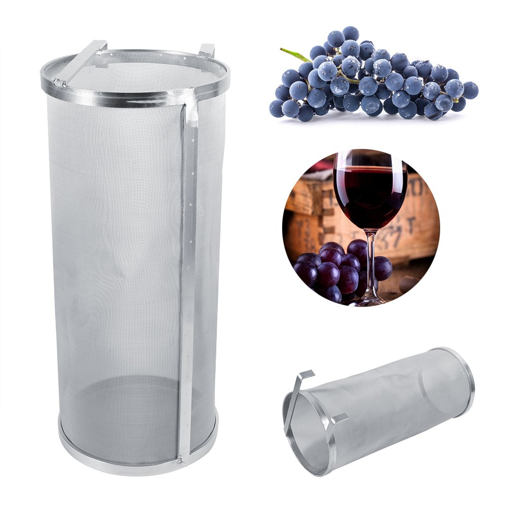 Hopper Filter, Home brew Stainless Steel Hops Spider Beer Hops Filter 13.8 inch Height With New Hook Handles