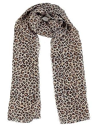 Echarpe Foulard Etole En Mousseline - Leopard Marron - Très agréable à  porter et très douce  Amazon.fr  Vêtements et accessoires 59e936648da