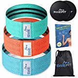 Cheap Fitness Booty Hip Bands – Elastic Cotton Fabric Resistance Fitness Loop Bands – Hip Exercise Circles for Legs and Butt – Workout & Activate Glutes, Quads & Thighs – Thick, Wide, Cloth for Squat, Lunge