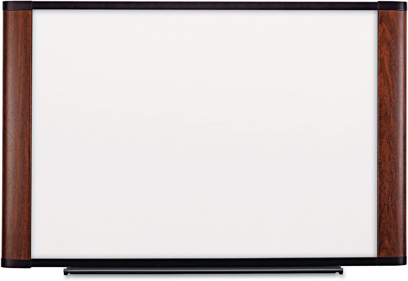 3M Dry Erase Board, 72 x 48-Inches, Widescreen Mahogany-Finish Frame