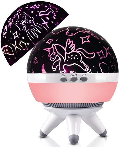 Lámpara de proyector de unicornio y estrella, forma de globo, luz ...
