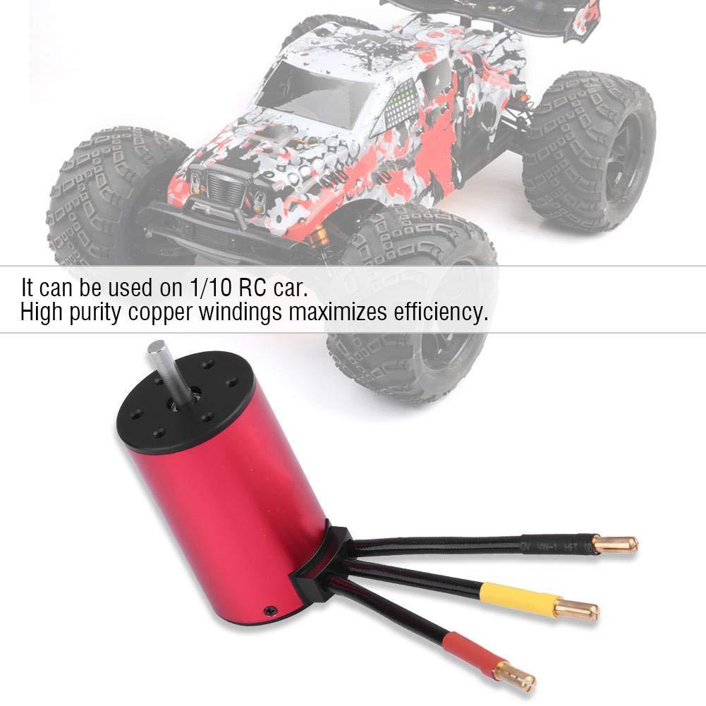Motore 3800KV + ESC 60A Set Combinato brushless Impermeabile Motore S3660 con Accessori ESC RC 60A Qiterr Motore brushless RC