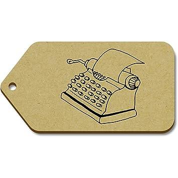 Azeeda 10 x Grande Máquina de Escribir 99mm x 51mm Regalo/Equipaje Etiquetas