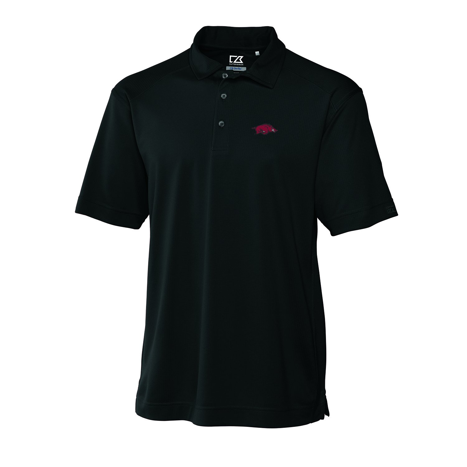 NCAA Men's Arkansas Razorbacks Black Drytec Genre Polo Tee