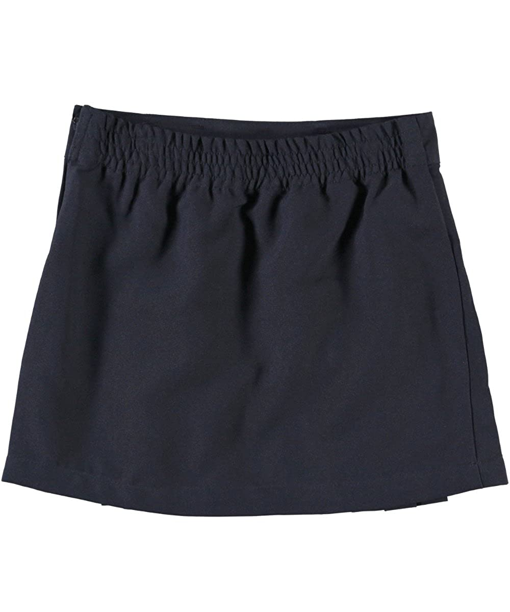 French Toast Little Girls' Pleat & Tab Skirt - navy, 6x