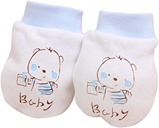 Cute Baby Infant Boys Girls Anti Scratch Mittens Soft Newborn Baby Gloves PB