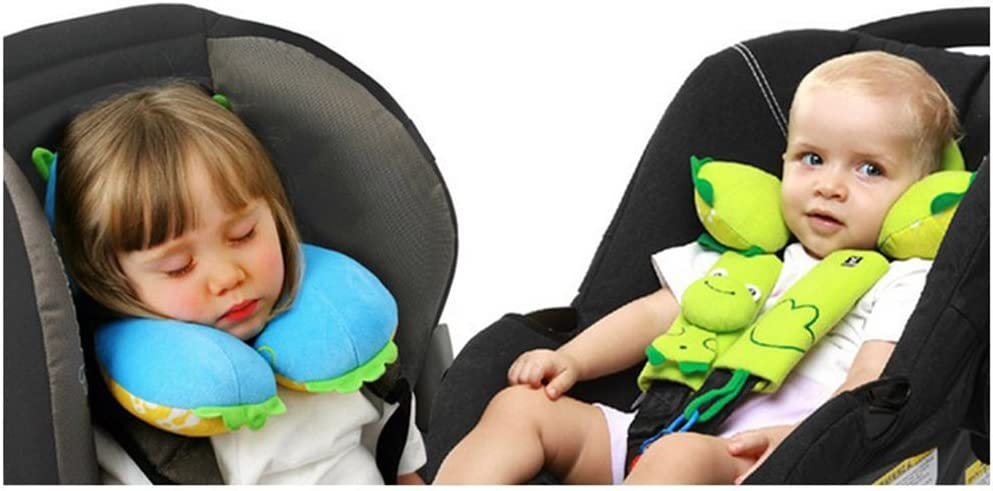 brunoko Kids Travel Pillow Pram /& Car Travel Accessories 2 in 1 for Toddler Designed in Spain Baby Neck Support Pillow Seatbelt Pillows for Kids Child Safety Car Seat Head Support
